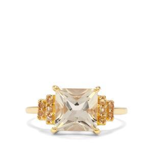 Serenite & Diamantina Citrine 9K Gold Ring ATGW 2.40cts