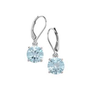 6.85ct Sky Blue Topaz Sterling Silver Amami Cut Earrings