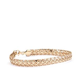 "7.5"" 9K Gold Altro Weave Bracelet 3.70g"