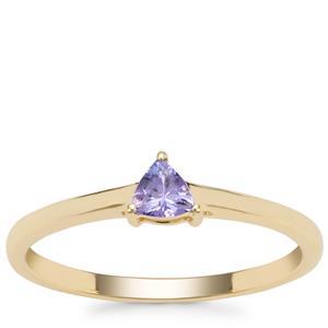 AA Tanzanite Ring in 9K Gold 0.19ct
