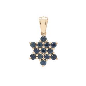 Australian Blue Sapphire Pendant  in 9K Gold 1.05cts