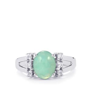 Aquaprase™ Ring with White Topaz in Sterling Silver 2.76cts