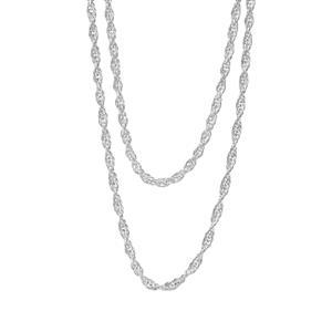 """30"""" Sterling Silver Classico Multi Strand Cordino Chain 5.06g"""