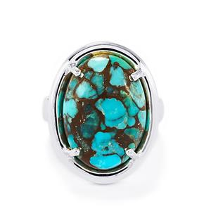 10.40ct Egyptian Turquoise Sterling Silver Ring