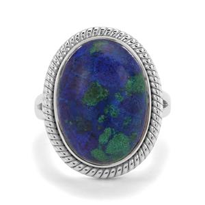 11.41ct Azure Malachite Sterling Silver Aryonna Ring