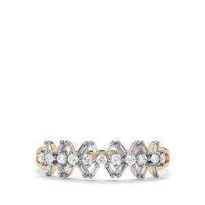 Diamond Ring in 18k Gold 0.34ct