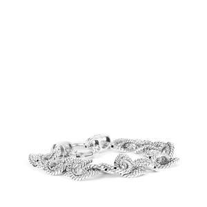 Sterling Silver Altro Rope Link Bracelet 20.58g