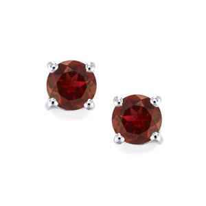 Rajasthan Garnet Earrings in Sterling Silver 1.24cts