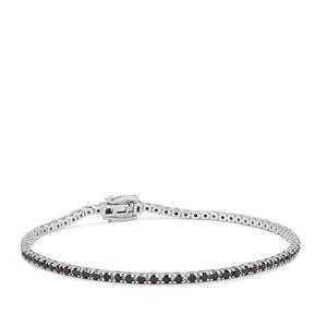 Black Diamond Bracelet in Sterling Silver 1.95cts