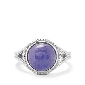 5.59ct Tanzanite Sterling Silver Ring