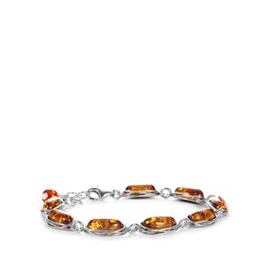 Baltic Cognac Amber Sterling Silver Bracelet