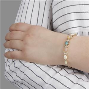 Harlequin Gems Bracelet in 9K Gold 3.16ct