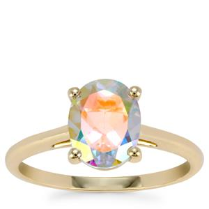 Mercury Mystic Topaz Ring in 9K Gold 2.12cts