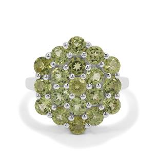 Red Dragon Peridot Ring in Sterling Silver 3.71cts