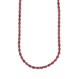 34.43ct Rajasthan Garnet Sterling Silver Necklace