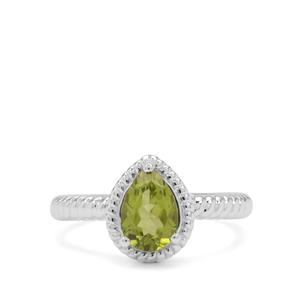 1.44ct Red Dragon Peridot Sterling Silver Ring