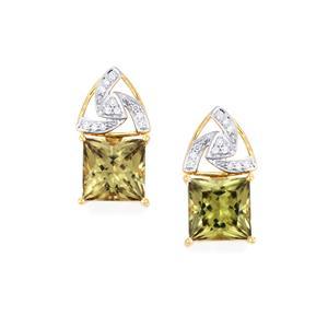 Csarite® & Diamond 18K Gold Lorique Earrings MTGW 12.04cts