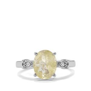 Bahia Rutilite & White Topaz Sterling Silver Ring ATGW 2.35cts