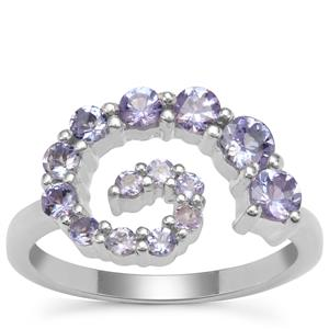 Tanzanite Ring in Sterling Silver 1.07cts