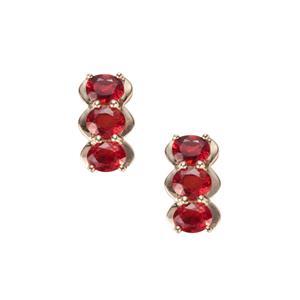 Winza Ruby Earrings in 9K Gold 1.71cts