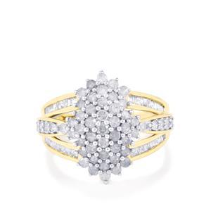 1.45ct Diamond 9K Gold Tomas Rae Ring