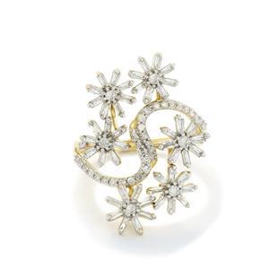 1.10ct Diamond 10K Gold Ring