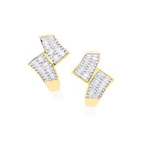 Diamond Earrings  in 9K Gold 0.26ct