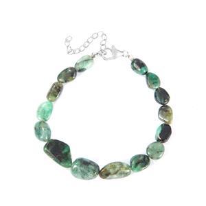 70.63ct Zambian Emerald Sterling Silver Bracelet