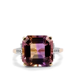 Anahi Ametrine Ring with Diamond in 9K Gold 6.74cts