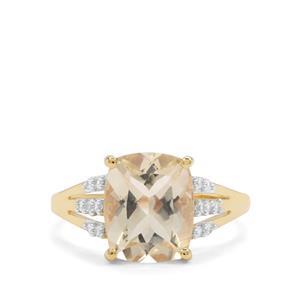 Serenite & White Zircon 9K Gold Ring ATGW 3.58cts