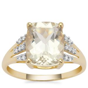 Serenite Ring with White Zircon in 9K Gold 3.58cts