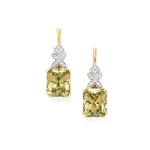 Csarite® & Diamond 18K Gold Lorique Earrings MTGW 10.97cts