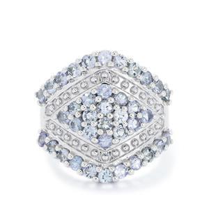 2.74ct Tanzanite Sterling Silver Ring