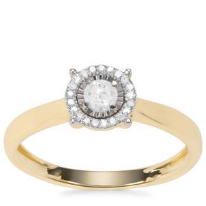 Diamond Ring in 9K Gold 0.20ct