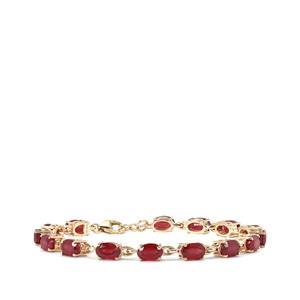 Malagasy Ruby Bracelet in 9K Gold 12.27cts (F)