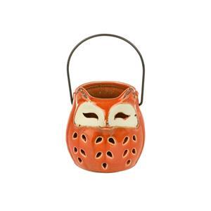 Ceramic Cut Out Owl Jar?