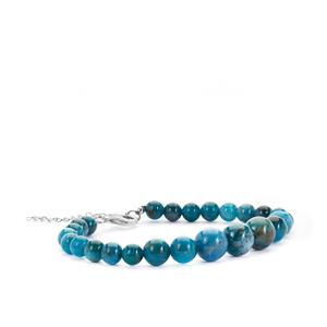 Neon Apatite Graduated Bracelet in Sterling Silver 80.20cts