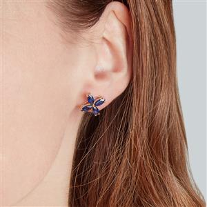 Sri Lankan Sapphire Earrings in 9K Gold 2.28cts