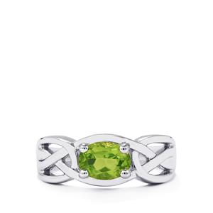 1.04ct Changbai Peridot Sterling Silver Ring