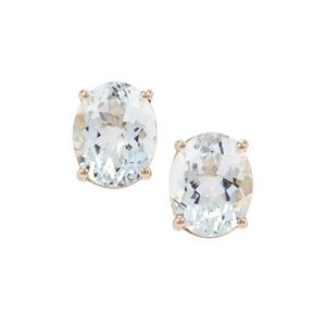 Madagascan Aquamarine Earrings in 9K Gold 4.74cts