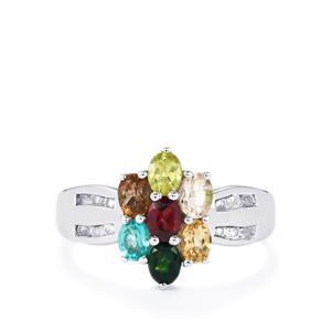 1.41ct Kaleidoscope Gemstones Sterling Silver Ring