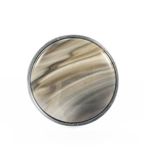 Cappuccino Flint Ring  in Sterling Silver 15.55cts