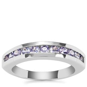 Tanzanite Ring in Sterling Silver 0.88ct