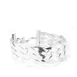 "7.5"" Sterling Silver Altro Braided Herringbone Bracelet 17.49g"