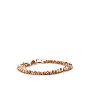 9K Gold Altro Garibaldi Bracelet 5.59g