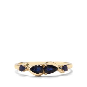 0.58ct Australian Blue & Thai Sapphire 9K Gold Ring
