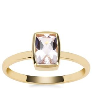 Alto Ligonha Morganite Ring in 9K Gold 0.79ct