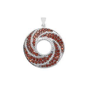 3.78ct Anthill Garnet Sterling Silver Pendant