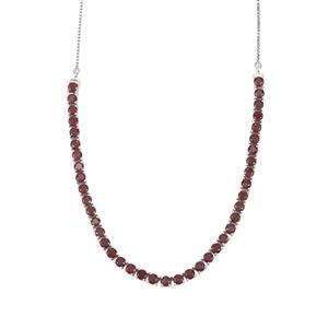 Malagasy Ruby Slider Necklace in Sterling Silver 16cts (F)
