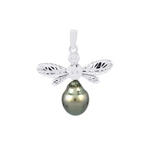 Tahitian Cultured Pearl Pendant in Sterling Silver